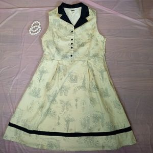 Modcloth Ducks in a Row xl Sleeveless Fit & Flare